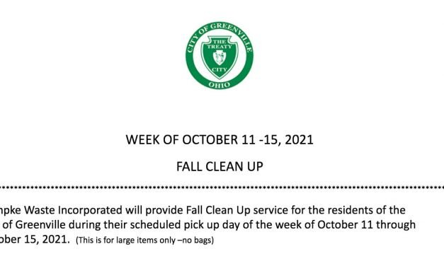 2021 Annual Fall Item Pick Up/Clean Up (Greenville)