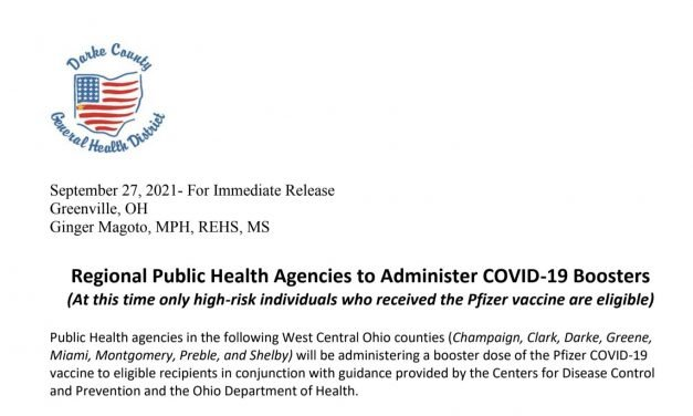 Regional Public Health Agencies to Administer COVID-19 Boosters